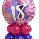 18-as lila-pink asztaldekoráció