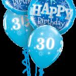30-as Szülinapi kék luficsokor