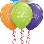 50-es Születésnapi héliumos bubbles luficsokor