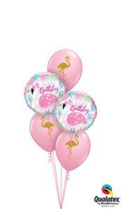 Rózsaszín Flamingós Szülinapi Lufi Csokor