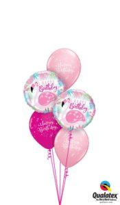 Szülinapi Rózsaszín Flamingós Lufi Csokor