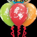 Cirkuszos héliumos bubbles luficsokor