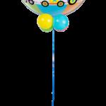 Cirkuszos héliumos bubbles lufi talppal
