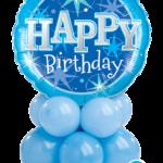 Kék születésnapi asztaldekoráció