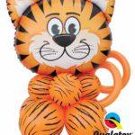 Tigris lufis asztaldekoráció